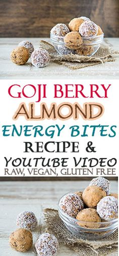 raw, vegan, gluten-free quick and easy energy bite recipe and YouTube Video!