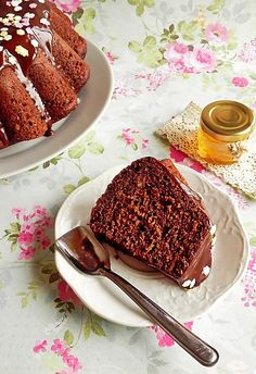 cake with chocolate and cheese
