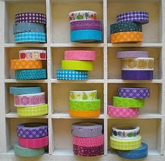 japanese washi tape display - love it!