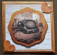 3D+Karte+Telefon+Vintage+Style+inkl.+Umschlag+von+Pattys+Kartenwelt+auf+DaWanda.com