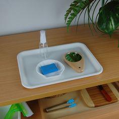 Mirror Polishing Set W/ Plastic Tray Plastic Trays, Montessori Materials, Practical Life, Preschool, Mirror, Ideas, Preschools, Kid Garden, Real Life