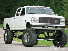 1997 Ford F350 Lifted via 8 Lug HD Truck www.wheelhero.com