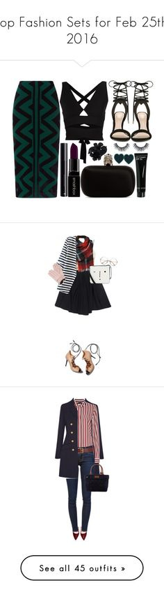 """Top Fashion Sets for Feb 25th, 2016"" by polyvore ❤ liked on Polyvore featuring Burberry, Proenza Schouler, ALDO, Smashbox, Alexander McQueen, CC, Valentino, Le Mont St. Michel, Black Rivet and WithChic"
