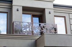 Creative laser cut steel balustrade, designed by Entanglements. Calufield townhouse