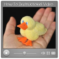 How to Make a Washcloth Duck Instructional Video