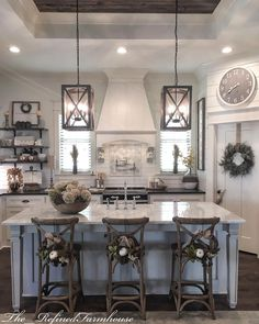 Creative Fall Kitchen Design Ideas For Home Decor Home Kitchens, Rustic Kitchen, Sweet Home, Home Remodeling, Farmhouse Kitchen Design, Home Decor Kitchen, Home Decor, Farmhouse Style Kitchen, Kitchen Style