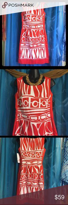 CHETTA B Lined Bold Print Dress (NWT)-Size 2 (NWT) Lined bold-print sleeveless dress. Retails at $159 Chetta B Dresses