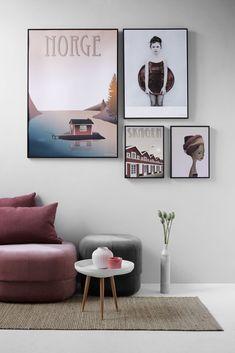 Indretning stue plakater i varme farver fra ViSSEVAASSE