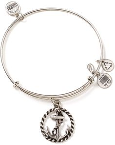 Alex And Ani Silver Nautical Bracelet
