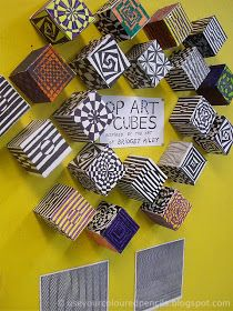 Use Your Coloured Pencils: Op Art Cubes