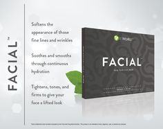 This cream-infused, deep hydration mask soothes skin and softens the look of fine lines and wrinkles while continuously hydrating for a more beautiful you! It Works Facial $59 for a box of 4. http://www.newlifebodywraps.com/it-works-loyal-customer/