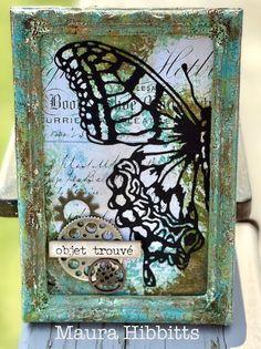 Maura, Simon Says Stamp Blog, Distressed Texture, Ranger Ink, Photo Tree, Frame It, Card Maker, Tim Holtz, Textured Background