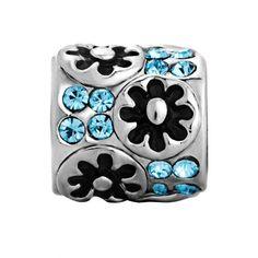 http://cheune.com/store Pugster Flower March Crystal Bead Fit Pandora Chamilia Biagi Charm Bracelet