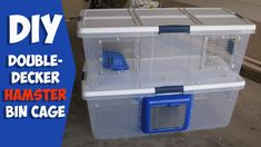 Homemade Double Decker Hamster Cage by HAMMY TIME