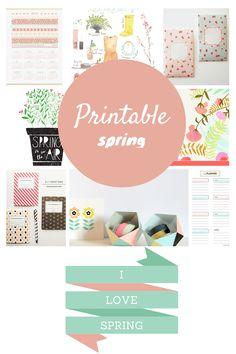 selección de printables #printables #calendar #nota