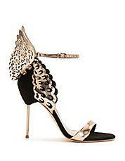 Evangeline Black Rose Pin Heel Sandals