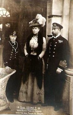 King George And Queen Mary | King George V. und Queen Mary of Britain with Edward Prince of Wales ...