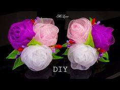 ПРОСТЫЕ РОЗОЧКИ ИЗ ОРГАНЗЫ, МК / DIY Beautiful Organza Roses (simple way) - YouTube