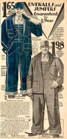 Image result for vintage workwear ad