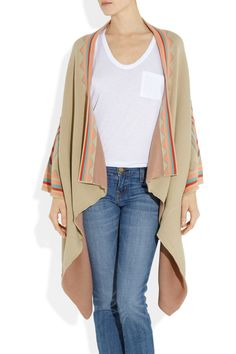 HAUTE HIPPIE  Patterned knitted cotton cardigan