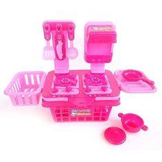 MY LOVELY KITCHEN PINK [50.000]  Salah satu mainan anak perempuan untuk memasak adalah my lovely kitchen set, dimana jenis mainan ini dapat melatih kreatifitas anak anda dalam melakukan kegiatan di dapur yaitu memasak.  mainan kitchen set berbntuk ranjang bila dilipat.. ada penggorengan, panci dan 3 bual alat dapur yg dapat di gantung tombol bisa di putar dan di geser2.. bahan material plastik Dimensi Kemasan P: 24cm L: 17 cm T: 13 cm  Happy Shopping :) Order atau tanya contact bio ya :)…