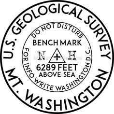 "Lassen Peak USGS Benchmark Sticker 3/"" Lassen Volcanic National Park Sticker"