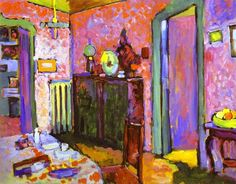 Quarto em Ainmillerstrasse by Wassily Kandinsky (Russia)