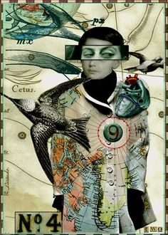 Taking Flight  5 x 7 inch digital art print by TwoDresses on Etsy (which happens to use some images from my Tumble Fish Studio image kits at MischiefCircus.com) - sales support the Hayley Jayne Richman Foundation.