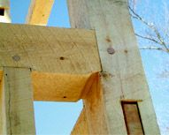 Girt to Post Joinery photo The most basic joint in timber framing is the Mortise & Tenon joint, illustrated here in the Girt (beam) to Post connection. Many other joints are simply variations on this joint. We house all of our mortise & tenon joints so that the beam and its loads are not resting solely on the tenon. This makes for a stronger and more appealing connection.