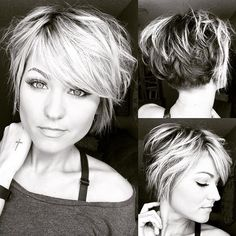 Let your hair be messy and your life be meaningful! 💋 Let your hair be messy and your life be meaningful! Mom Hairstyles, Cute Hairstyles For Short Hair, Pretty Hairstyles, Short Hair Styles, Latest Short Hairstyles, Layered Hairstyles, Trending Hairstyles, Short Hair With Layers, Short Hair Cuts For Women