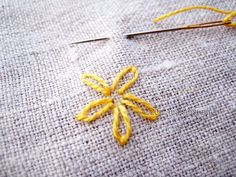 Hand embroidery: laz