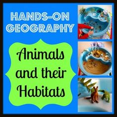 hands on geography animals habitats from Creekside Learning - so clever!