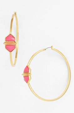 Vince Camuto Hidden Gems Hoop Earrings available at #Nordstrom