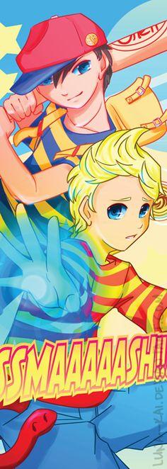 SSMAAAAASH bookmark (Ness & Lucas - Earthbound) by luna--kai.deviantart.com on @deviantART