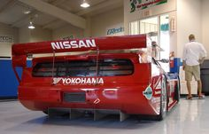 1989 IMSA/GTO Nissan 300z Z32dett Campaigned by Clayton Cunningham racing with Steve Millen #75 and John Morten #76 on driving duties... the 1200kg tube chassis racer was powered by a 24 valve, 3 liter V6 VG type engine, boosted by two Garrett turbochargers. The Z32 styled racer was reported to develop between 650bhp and 750bhp.