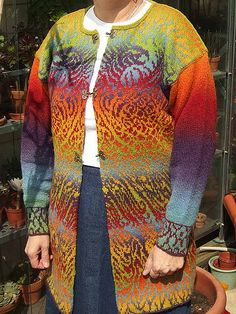 Phoenix Cardigan pattern by Meg Swansen - Link opens to Ravelry