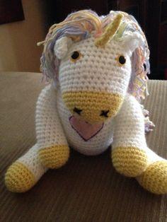 PDF PATTERN Abby the Unicorn Crochet Amigurumi by CrochetbyCK, $4.00
