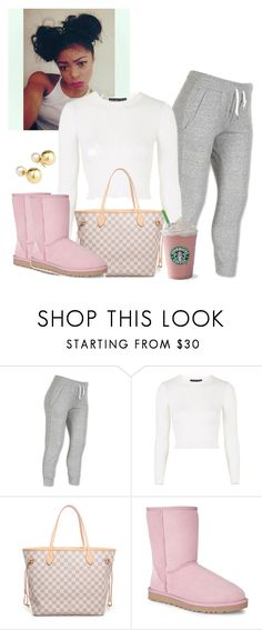 """""""Untitled #337"""" by qveenchynamonae ❤ liked on Polyvore featuring NIKE, Topshop, Louis Vuitton, UGG Australia and Yoko London"""