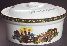Portmeirion Christmas Story 2 Qt Round Covered Casserole Fine China Dinnerware - Scenes Of Twas The Night Before Xmas & Portmeirion Christmas Story at Replacements Ltd | Christmas Story ...