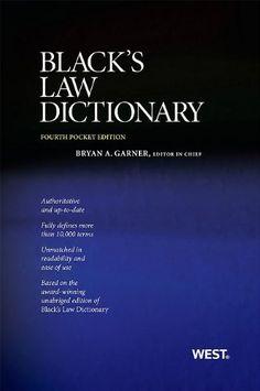 Black's Law Dictionary, Pocket Edition, a book by Bryan A. School Grades, Prep School, Law School, School Notes, School Hacks, Prep Book, Law Books, Harvard Law, Pocket Edition