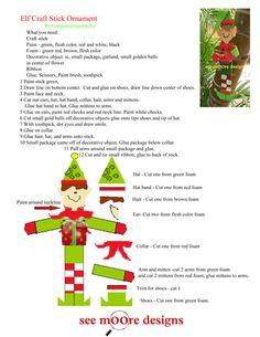 Hot Flash'n Craft'n: Elf Craft Stick Ornament