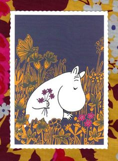 Etsy の LAST ONE Moomin Postcard from Finland by funkyhomosapiens