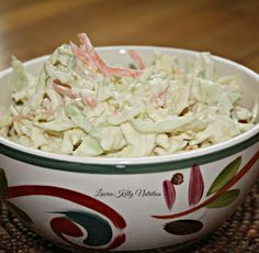 Creamy Healthy Coleslaw, only 55 calories in a serving!