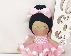Handmade Doll Soft Fabric Doll Pink by SewManyPretties on Etsy