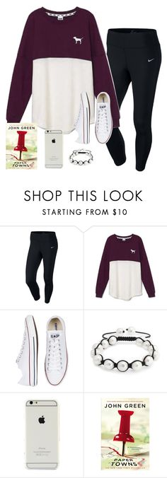 """Bored someone plz message me anytime"" by oliveee-heinzzz ❤ liked on Polyvore featuring NIKE, Victoria's Secret, Converse and Bling Jewelry"
