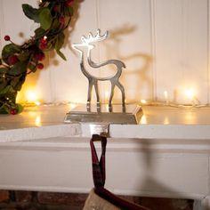 Gisela Graham Christmas reindeer - Stocking hanger | Coast & Country Interiors
