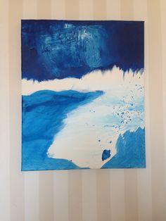 Blå dröm - Akryl på canvas