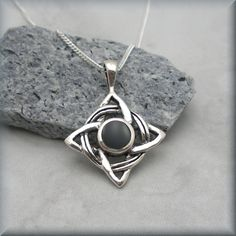 Black Onyx Celtic Knot Necklace Irish Jewelry by BonnyJewelry, $24.00