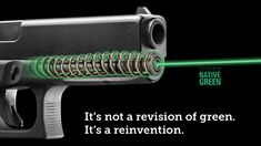 LaserMax's New Green Laser Guide Rods for Glock like green