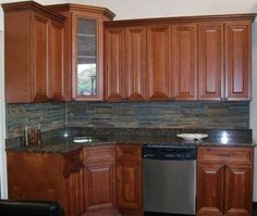 Universal Kitchen Cabiets offers custom wood cabinets with granite countertops, at a discount sale price. Get brand new wood kitchen cabinets at the price of kitchen cabinet refacing. Cost Of Kitchen Cabinets, Refacing Kitchen Cabinets, Cabinet Refacing, Backsplash Ideas, Construction, California, Home Decor, Building, Decoration Home